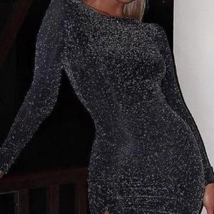 Black and gold sparkle dress!